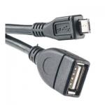 Кабель PowerPlant OTG USB 2.0 AF - Micro, 0.5м