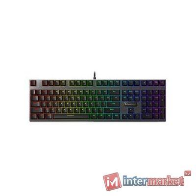 Клавиатура, Rapoo, V500 Alloy, Игровая, USB, Кол-во стандартных клавиш 87, Длина кабеля 1,8 метра, Анг/Рус/Каз, Чёрный