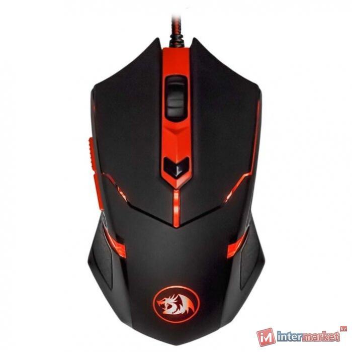 Мышь проводная игровая оптическая Redragon Centrophorus (черный) USB, 6кнопок, 1000-3200dpi
