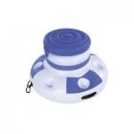 Надувной плавающий термоконтейнер для напитков CoolerZ Floating Cooler 70 см, BESTWAY, 43117, Винил, Объем 12 л., 6 подстаканников, Бело-Синий, Цветная коробка